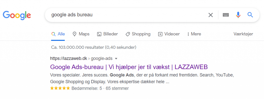 serp af google ads bureau