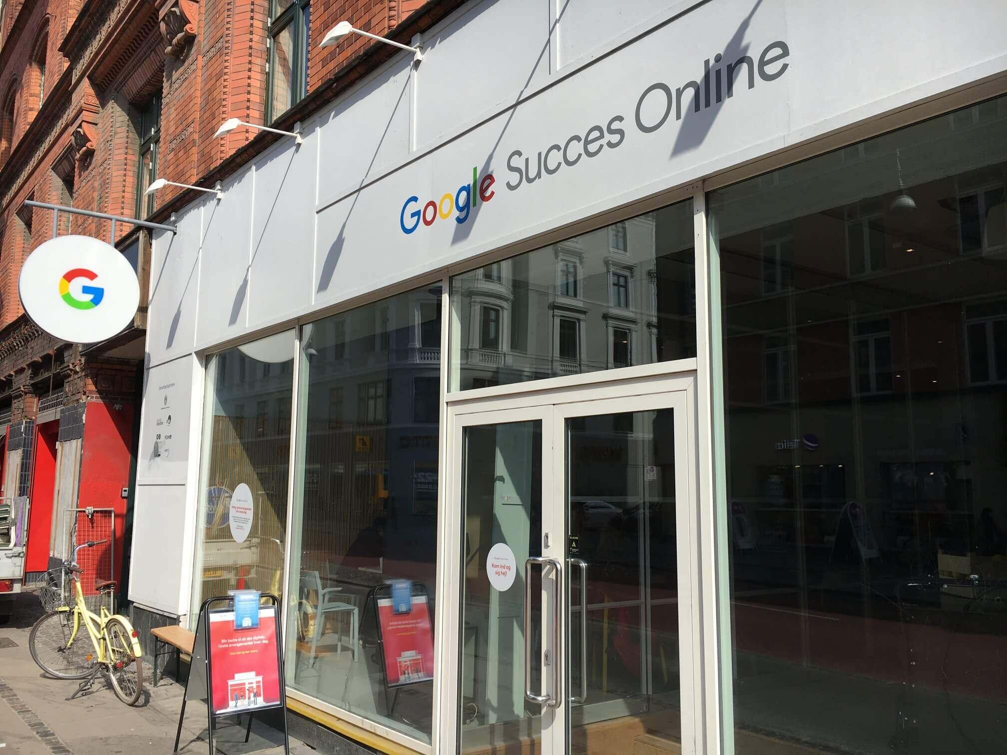 Facade butik Google Succes Online